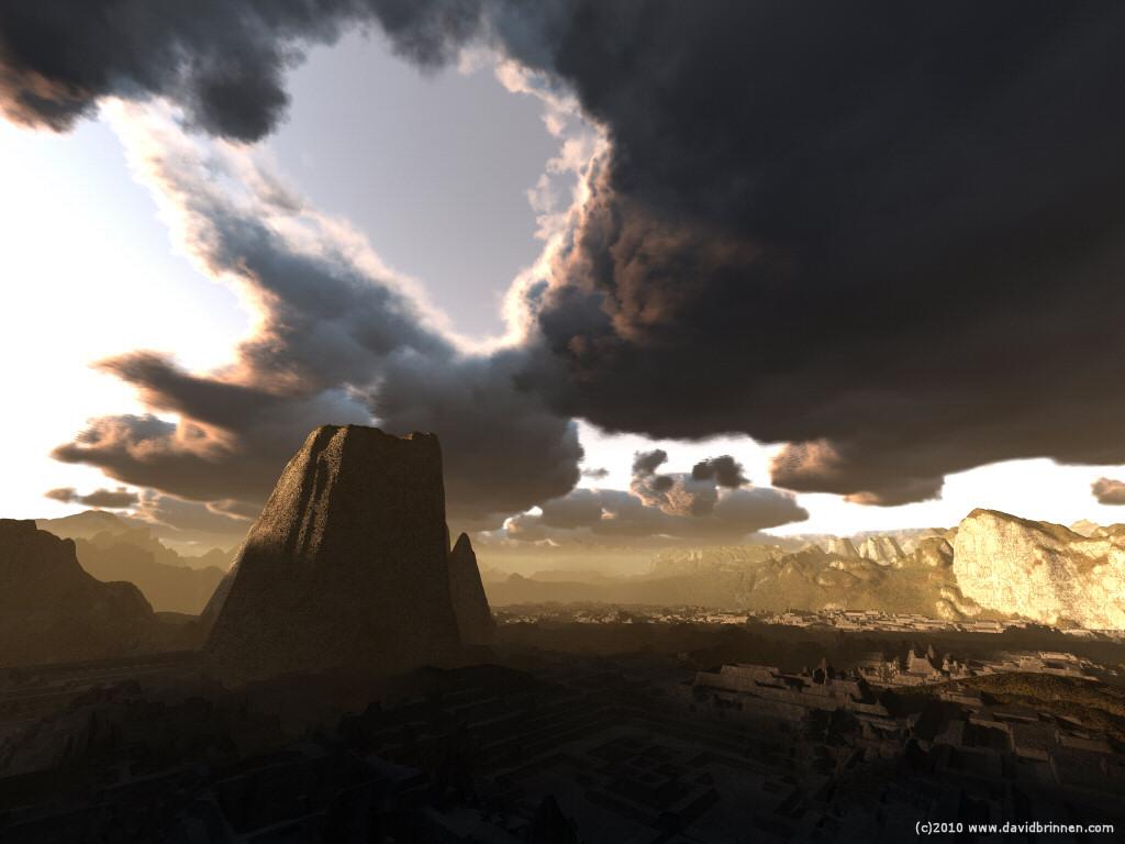 landscape bryce rendered image