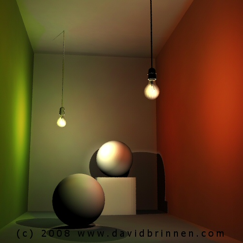 Indirect lighting in bryce MKII