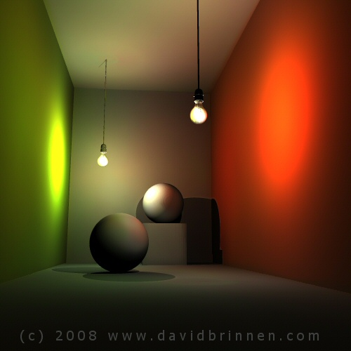 Indirect lighting in bryce MKII+