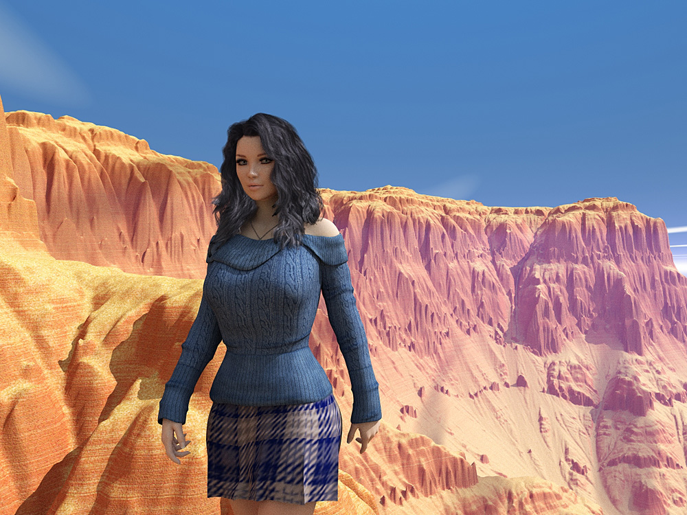 Girl And Canyon