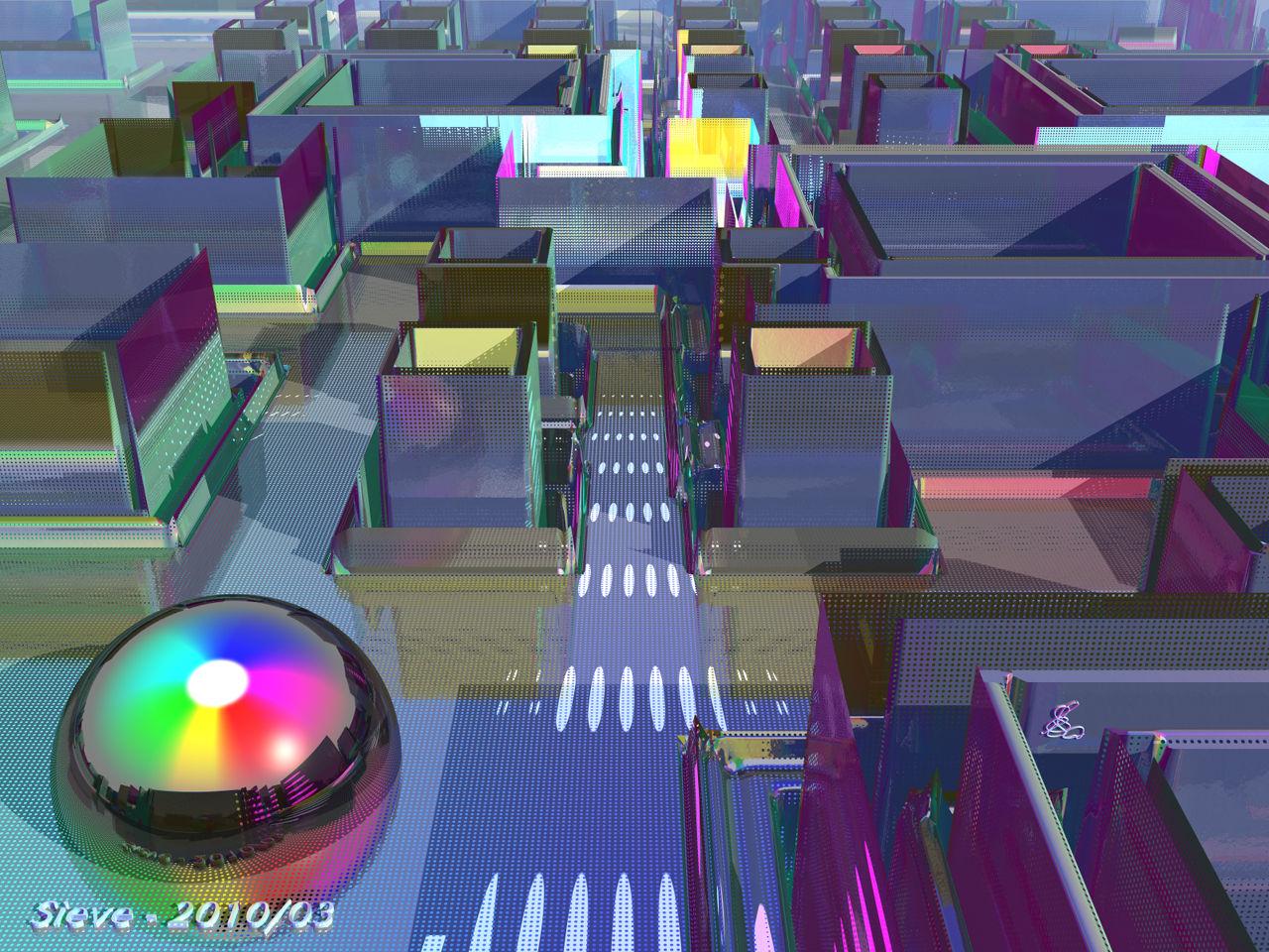 Sieve - Bryce 3D render by Horo
