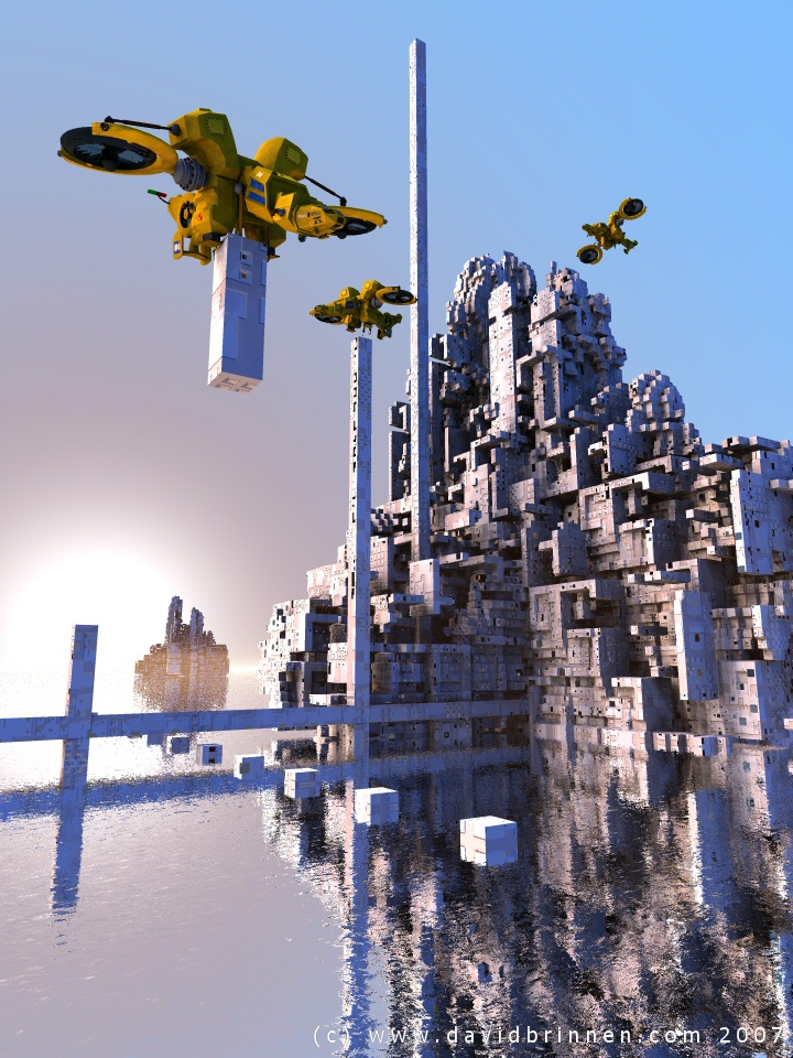 abstract cityscape bryce render