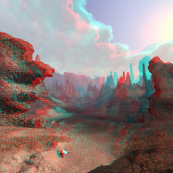 A canyon somewhere anaglyph