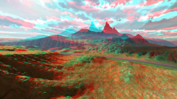 "A scene from the DVD ""anaglypherized"""