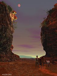 Twilight in the Red Canyon
