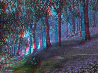 "Woodlands (blue bell version) ""anaglyphized"""