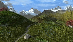 Mountain footpath