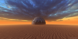 Techno Planet in Desert