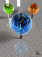 3 Coloured Spheres