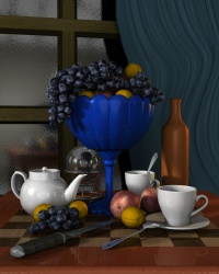 Vase with fruit v2