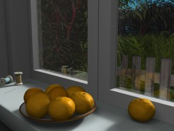 Mandarins on the windowsill
