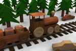 woodne toy train