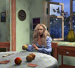The girl with apples 2