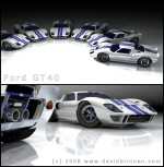 GT40 under a blue grey moon