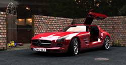 Mercedes SLS Gullwing.